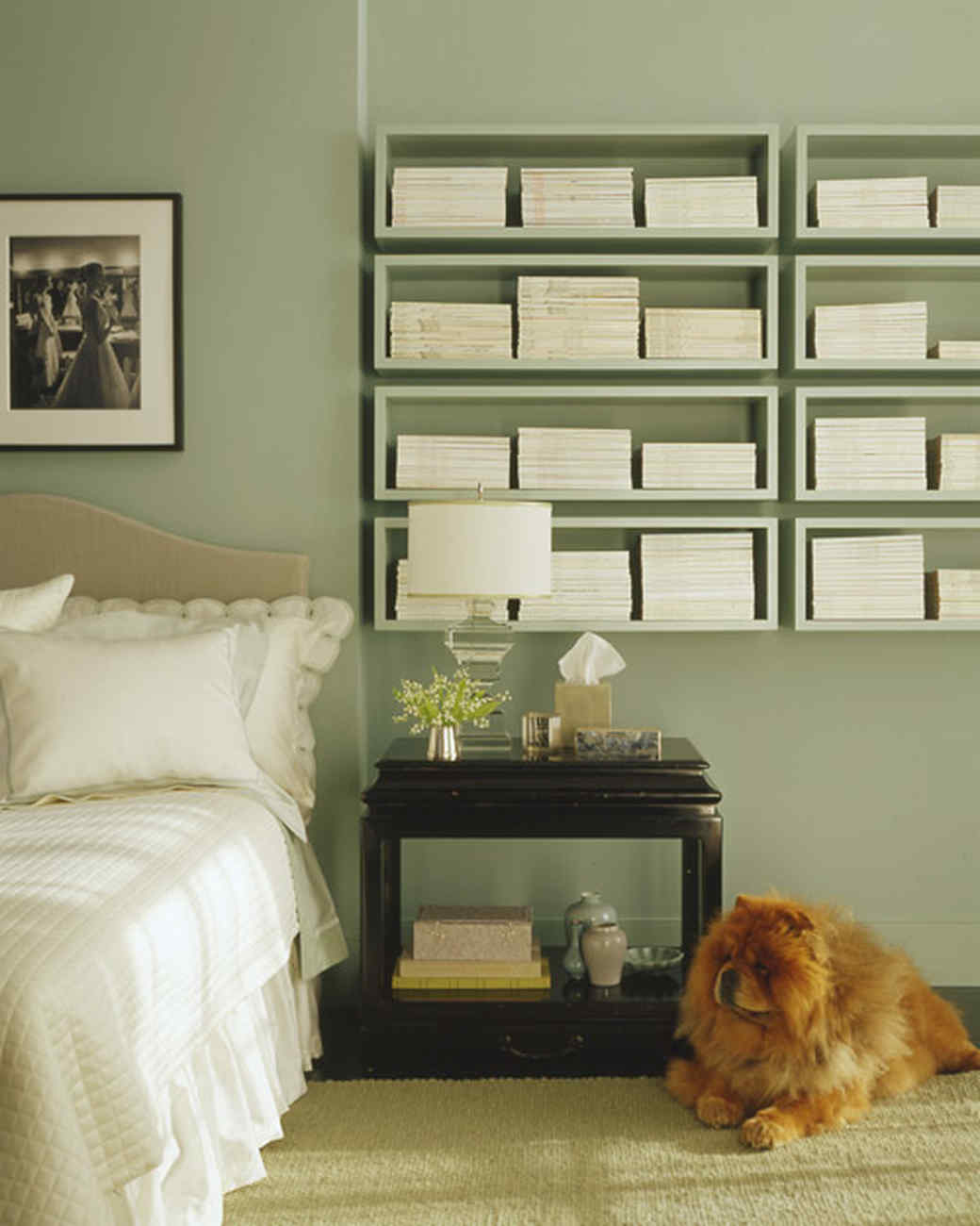 Green Bedroom Color Schemes green rooms | martha stewart