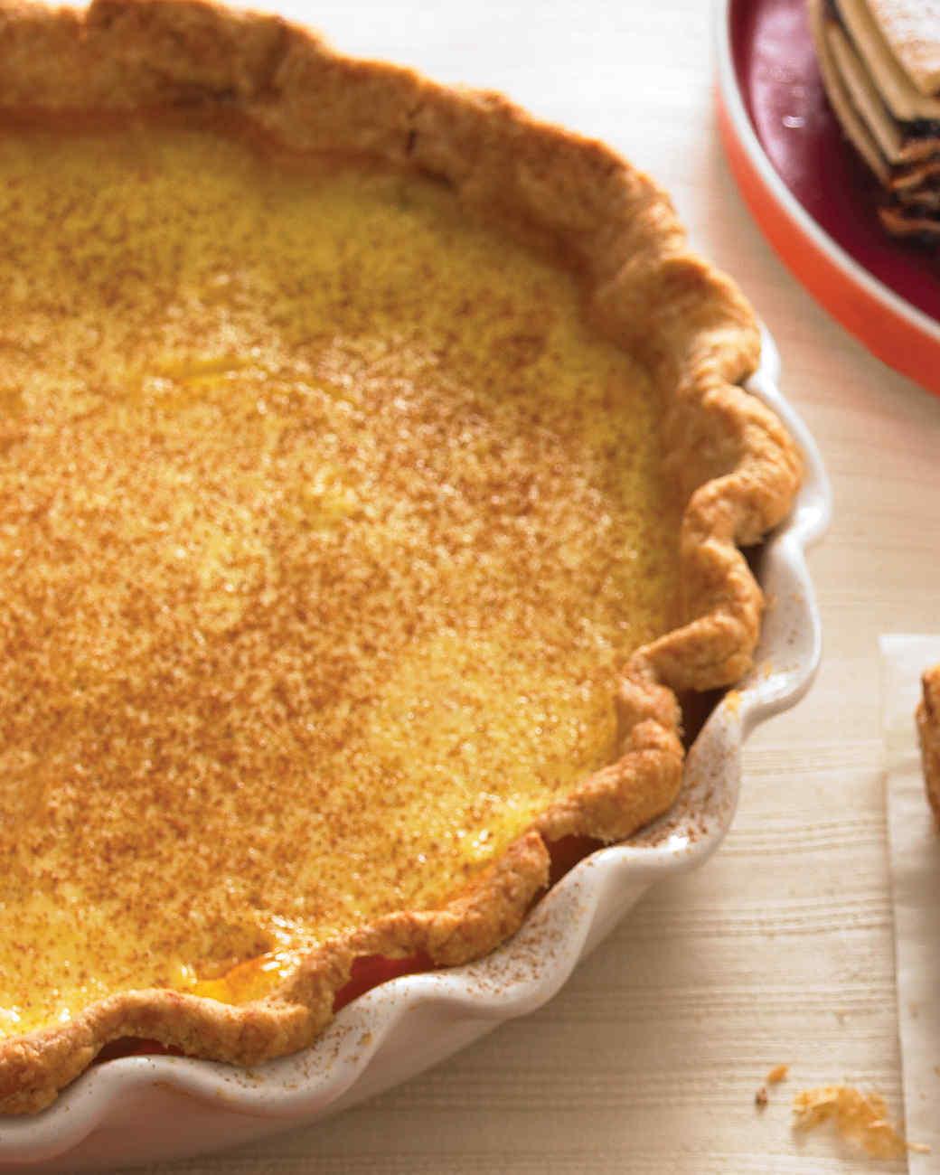 Cinnamon Custard Pie Recipe | Martha Stewart