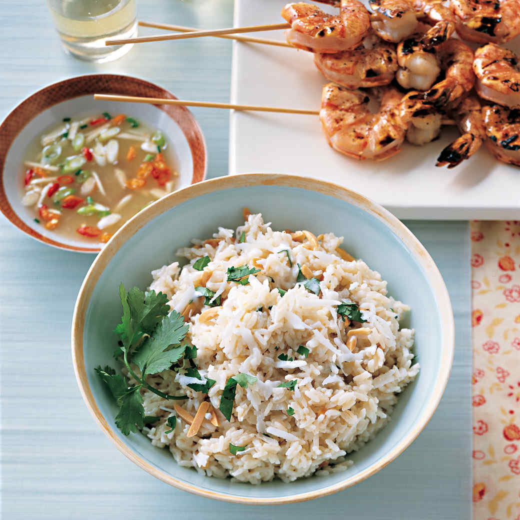Coconut Almond Rice