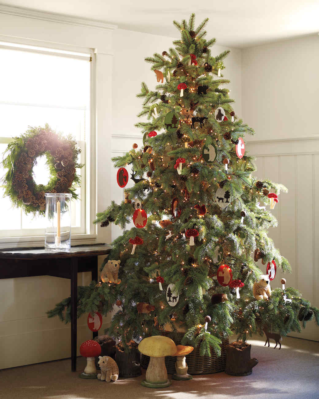Tabletop christmas tree decorating ideas - Woodland Tree