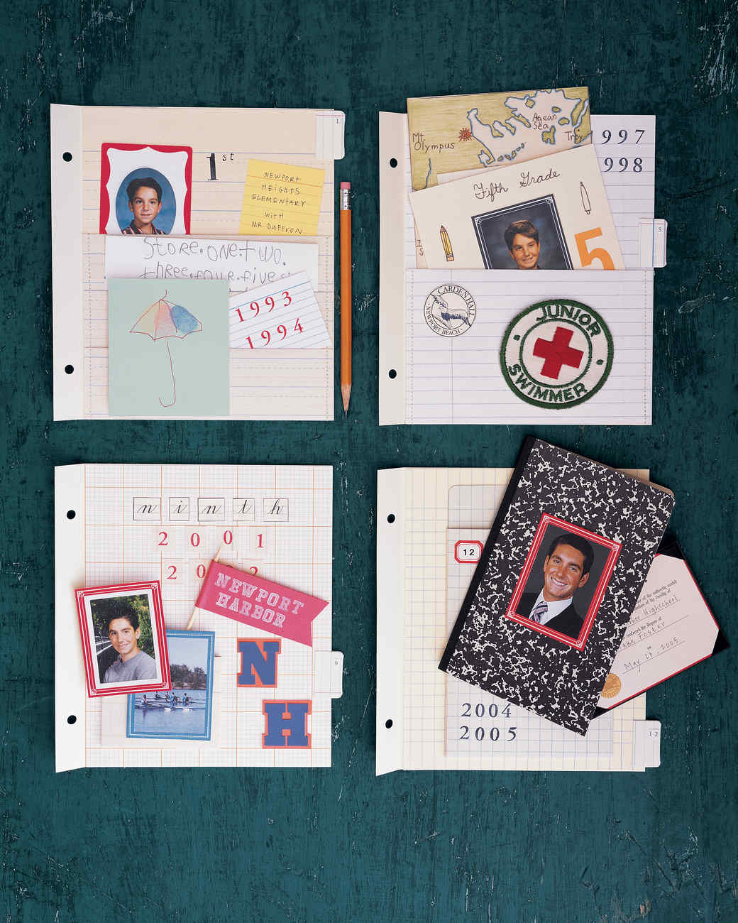 School Scrapbook Pockets | Martha Stewart