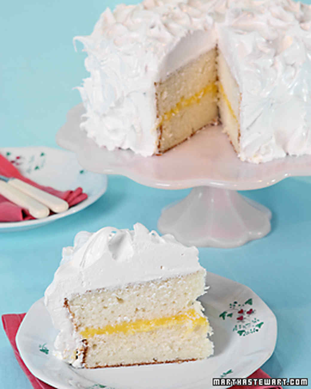 white layer cake with custard filling recipe