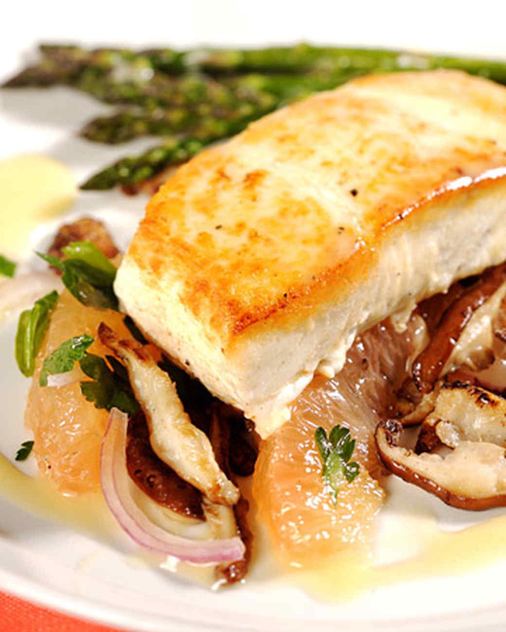 halibut mushrooms Alaskan Halibut Dish
