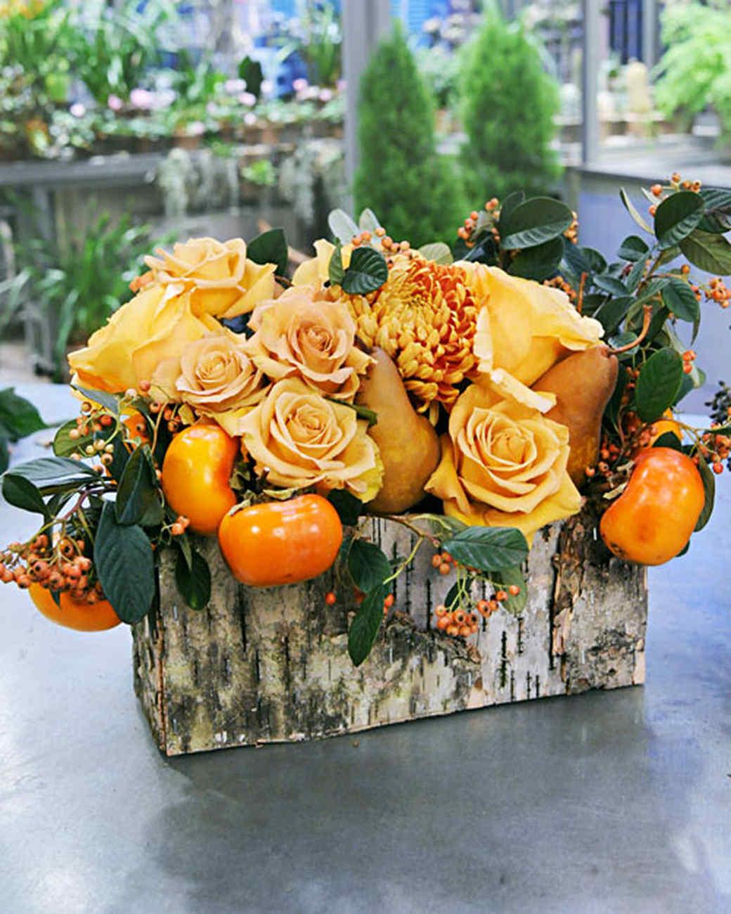 Fabulous fall centerpieces martha stewart for Bouquet de fleurs halloween