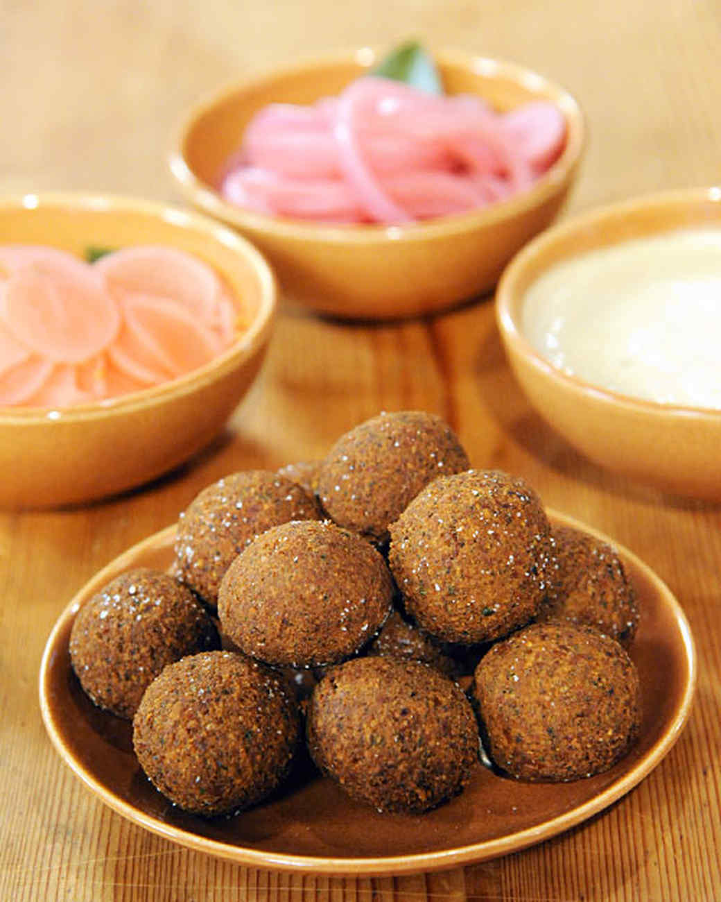 Falafel with Tahini Sauce Recipe & Video | Martha Stewart