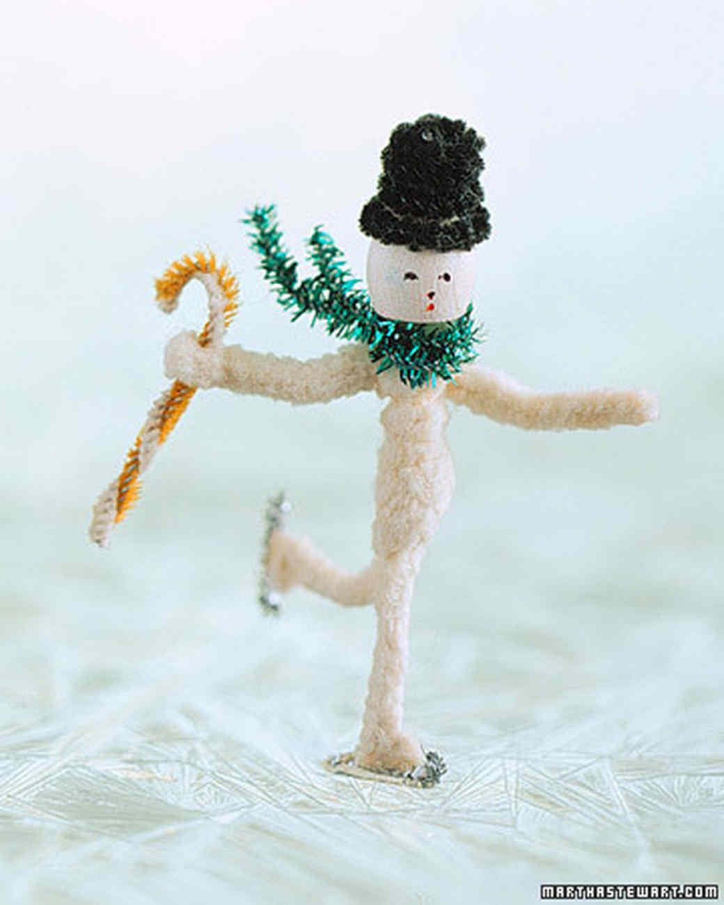 Making figures snowman martha stewart for Pipe craft