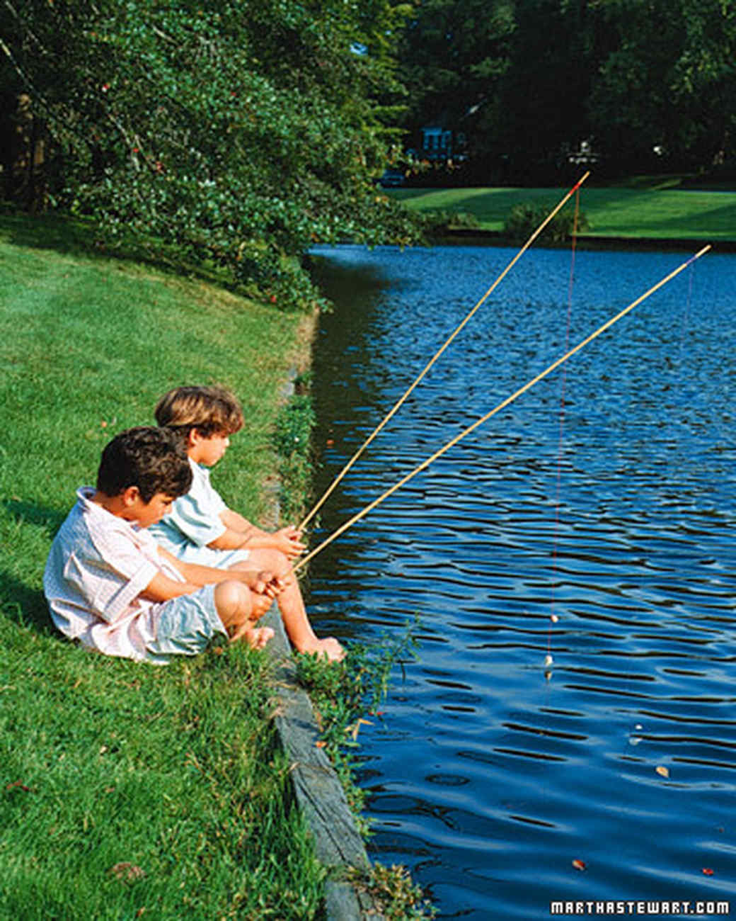 Fish themed ideas martha stewart for Kids fishing poles