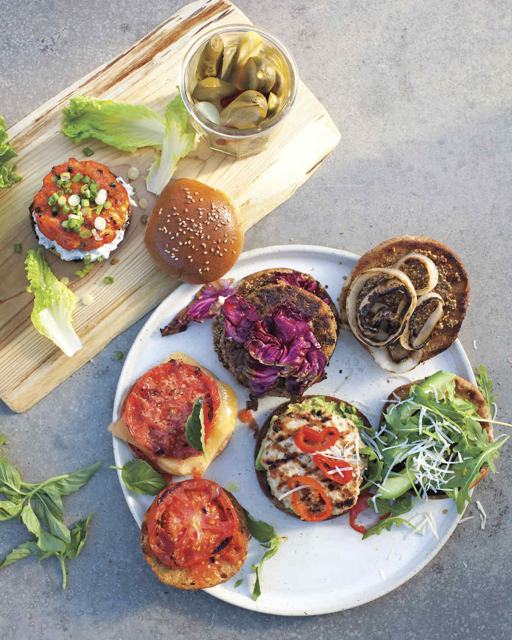 Quinoa-Feta Burgers Recipe & Video | Martha Stewart