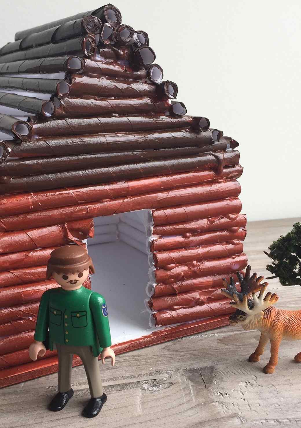 An Easy Little Log Cabin Your Kids Will Love Making