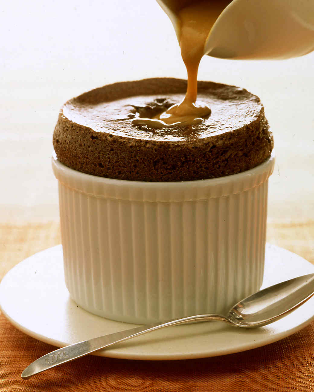 bittersweet chocolate souffles recipe martha stewart. Black Bedroom Furniture Sets. Home Design Ideas