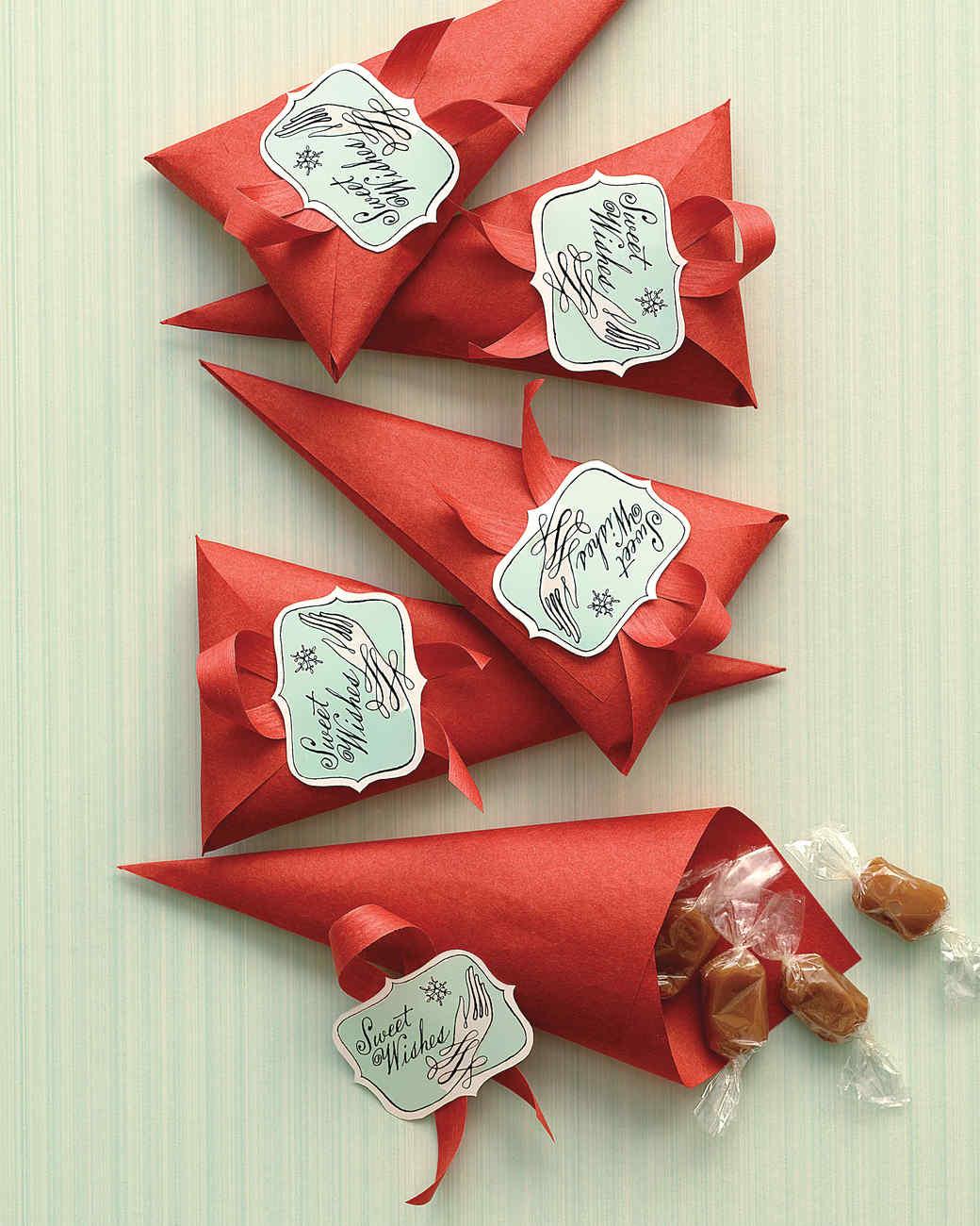 Gingerbread Caramel Cones | Martha Stewart