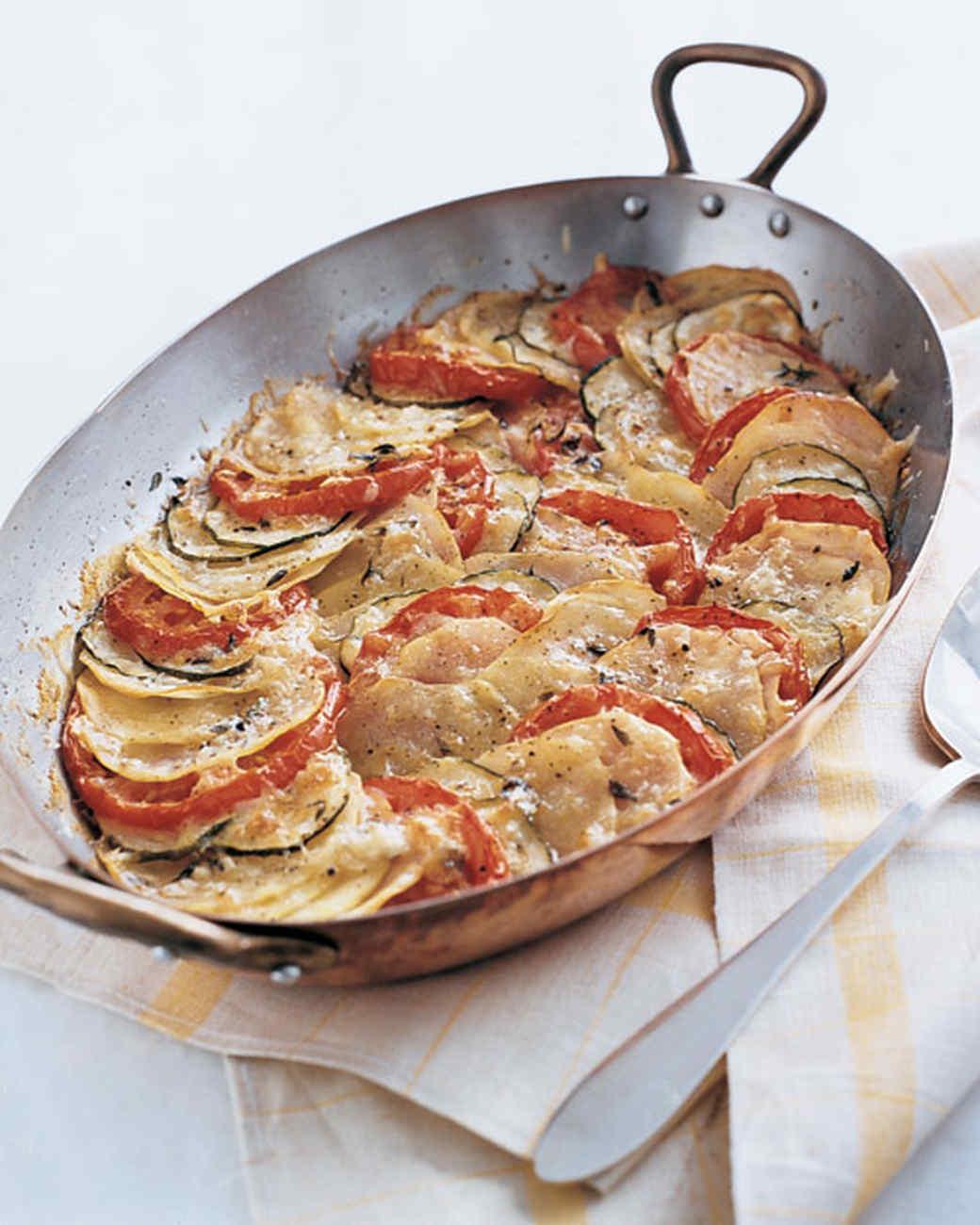 Potato, Zucchini, and Tomato Gratin Recipe | Martha Stewart