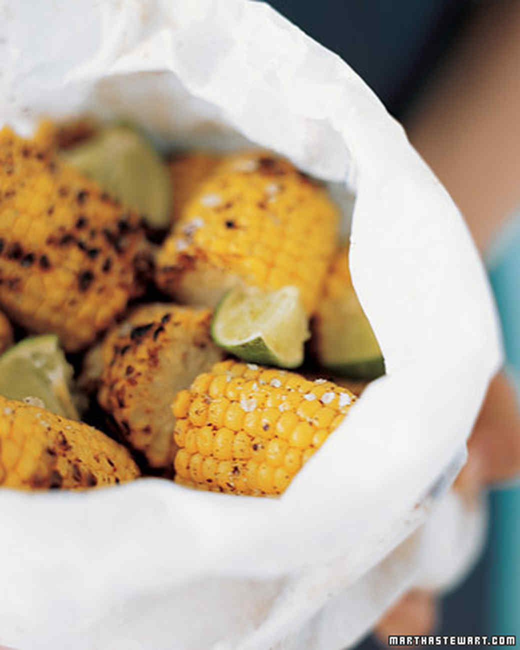 Grilled Corn with Chili Powder and Lime Recipe | Martha ...