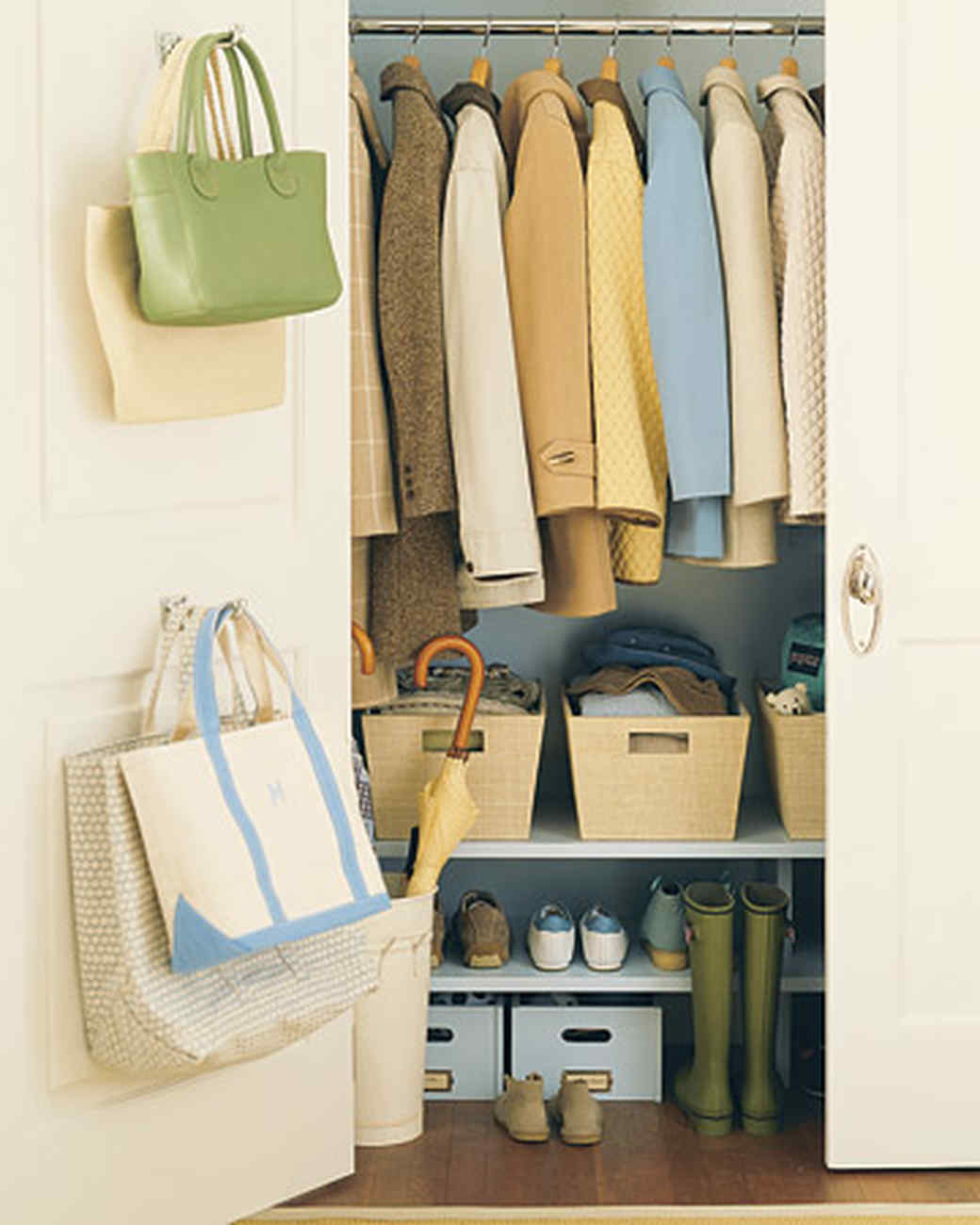 Storage Ideas For Closets save space in closets, hallways, and more | martha stewart