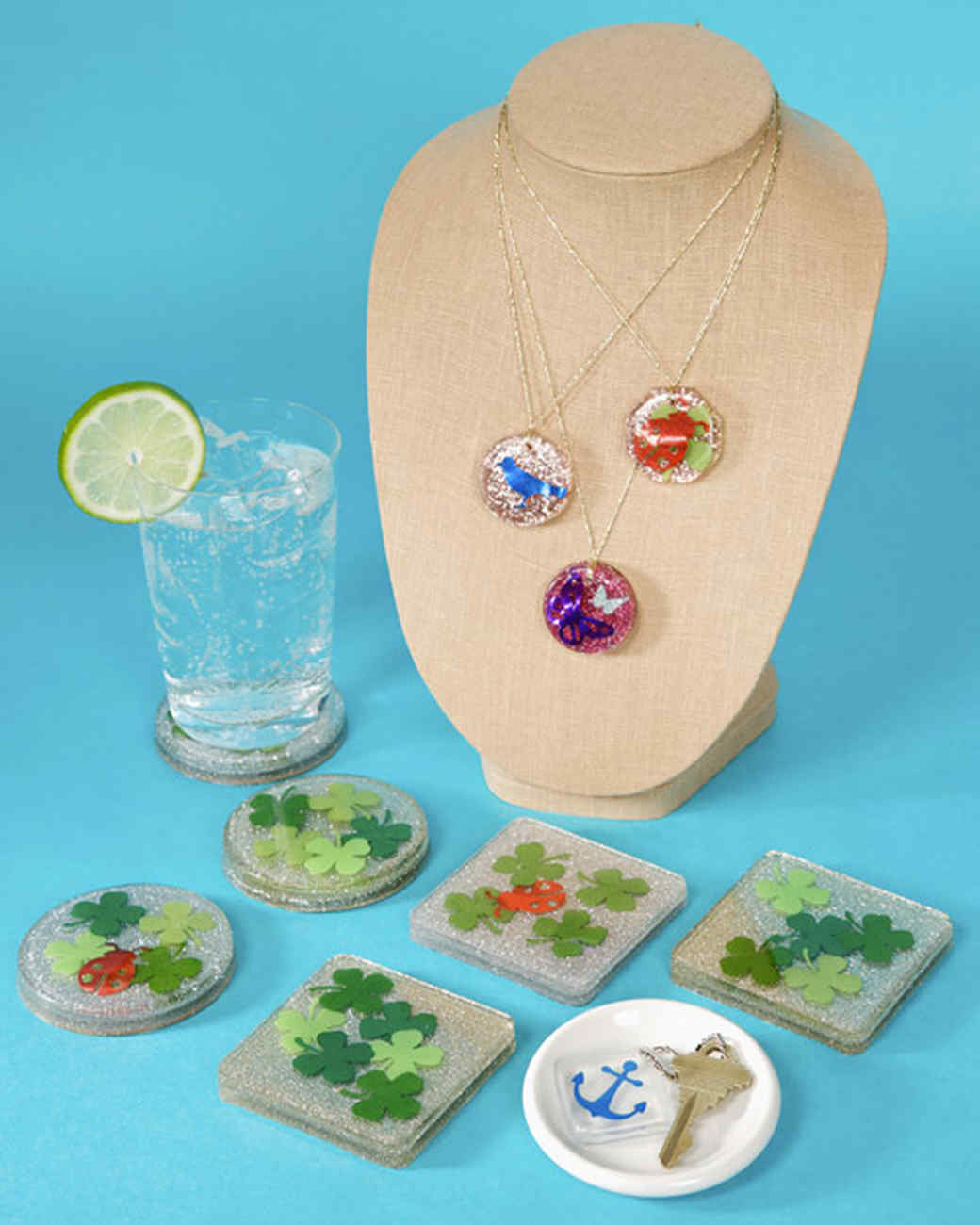 Resin-Casted Clover Coasters