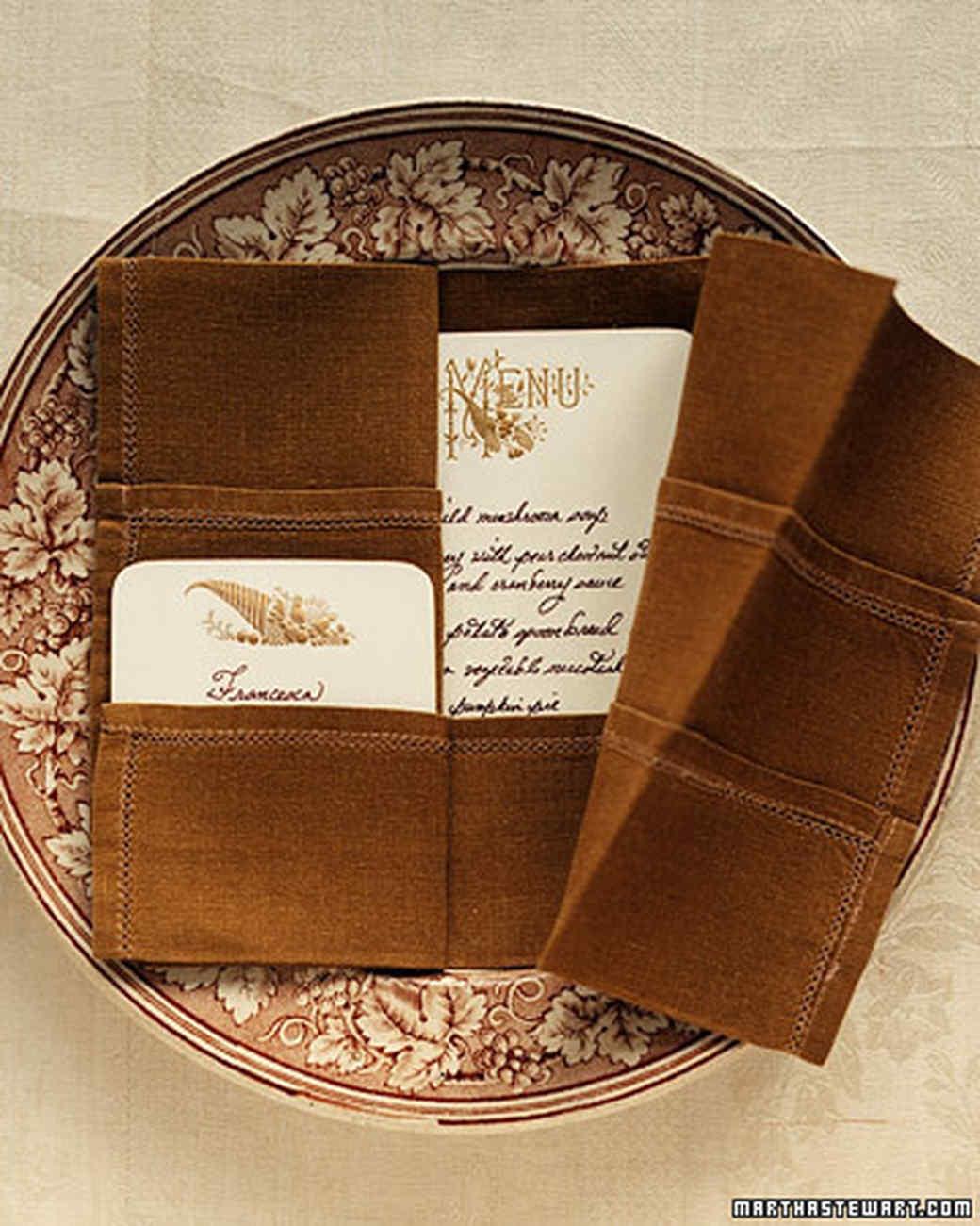 Napkin Folding: Open Book