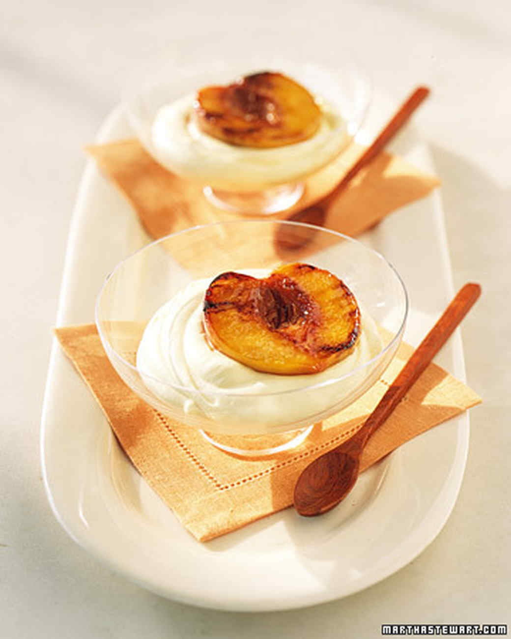 Grilled Peaches with Chilled Sabayon