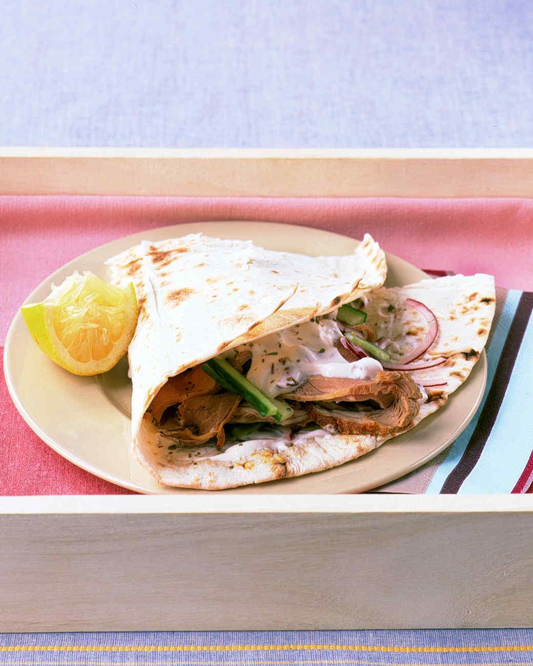 Wrap Sandwich And Burrito Recipes Martha Stewart