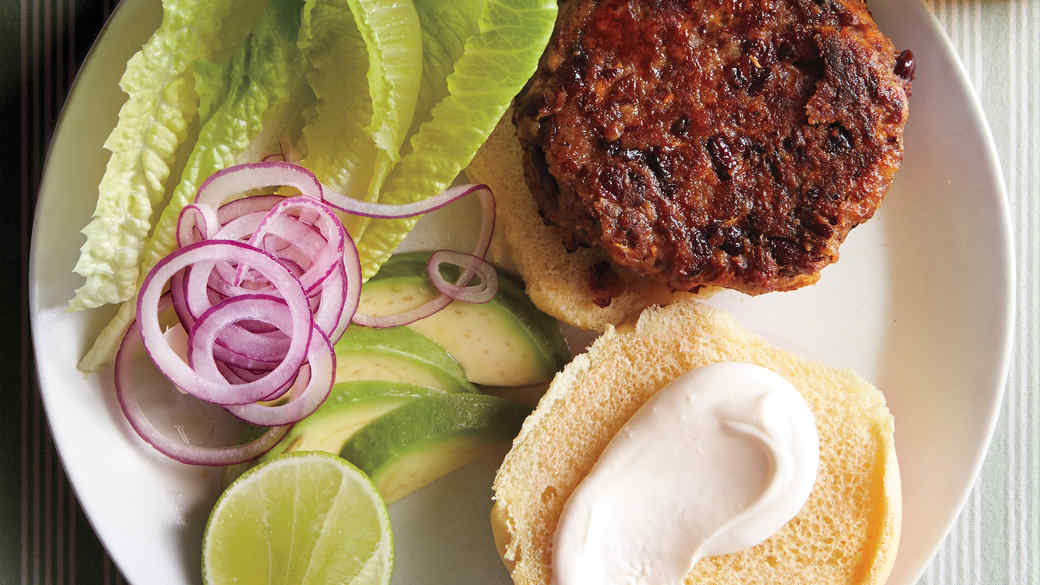 Red-Bean Burgers with Avocado and Lime