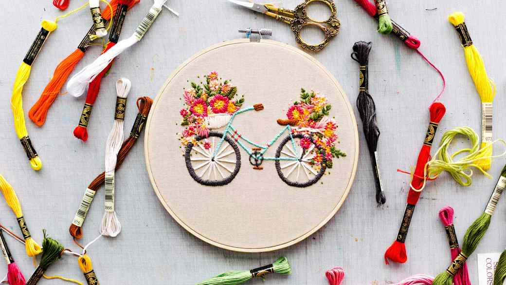 Martha Stewart Floral Velo embroidery