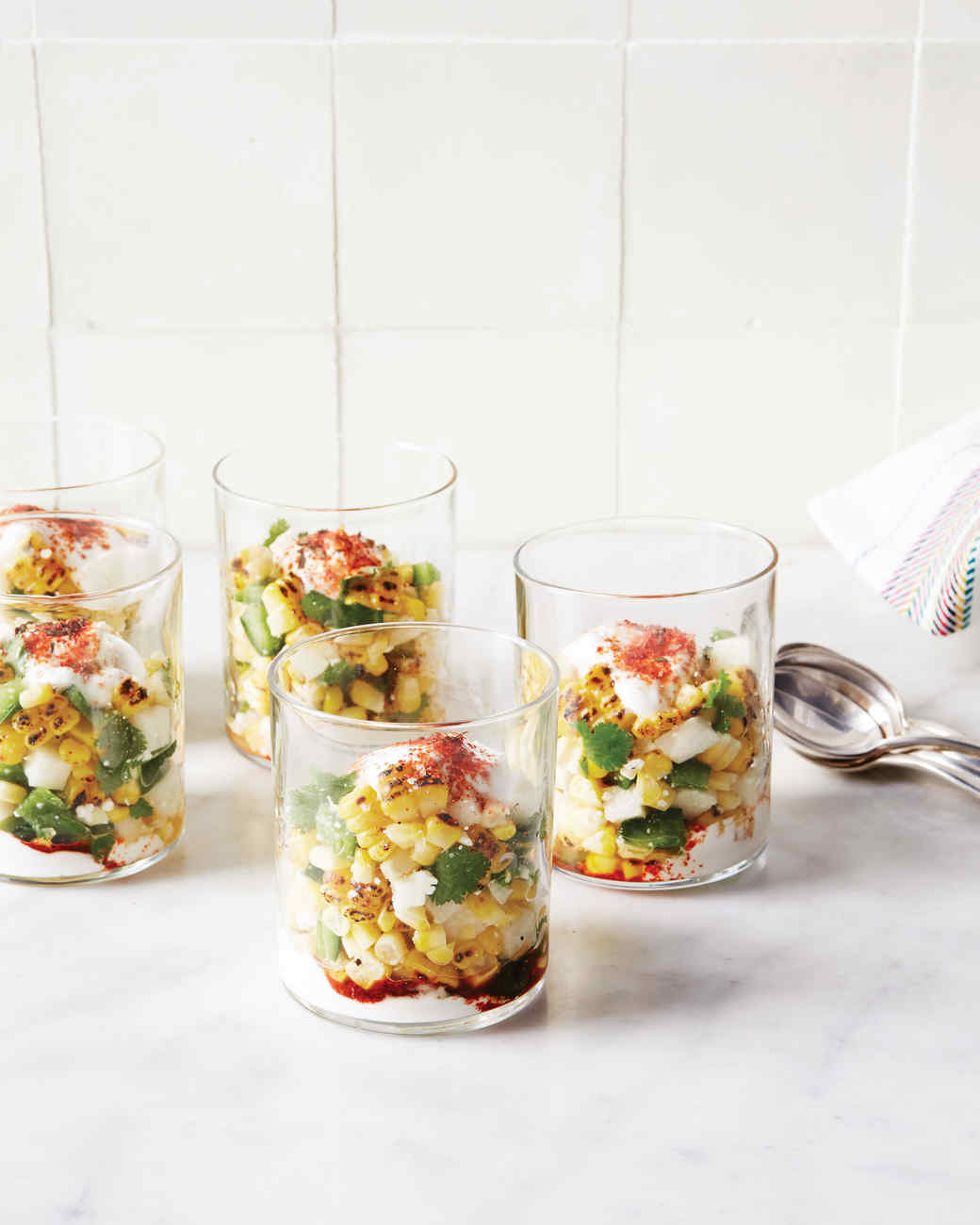 Seasoned Roasted-Corn Salad Cups