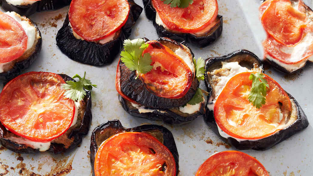 Indian-Spiced Eggplant Stacks