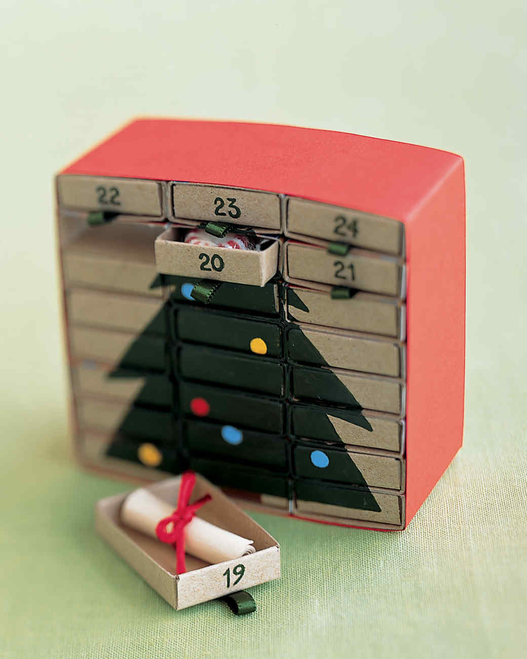 Diy Matchbox Advent Calendar : M is for matchbox advent calendar martha stewart