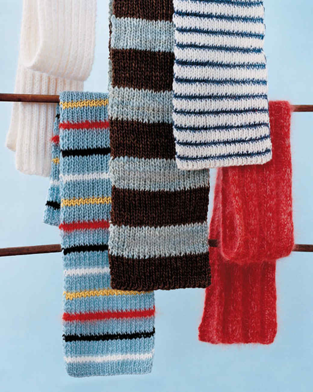Knitted Scarf Pattern With Pointed Ends : 7 Knitted Scarves to Feel Cozy and Comfortable Martha Stewart