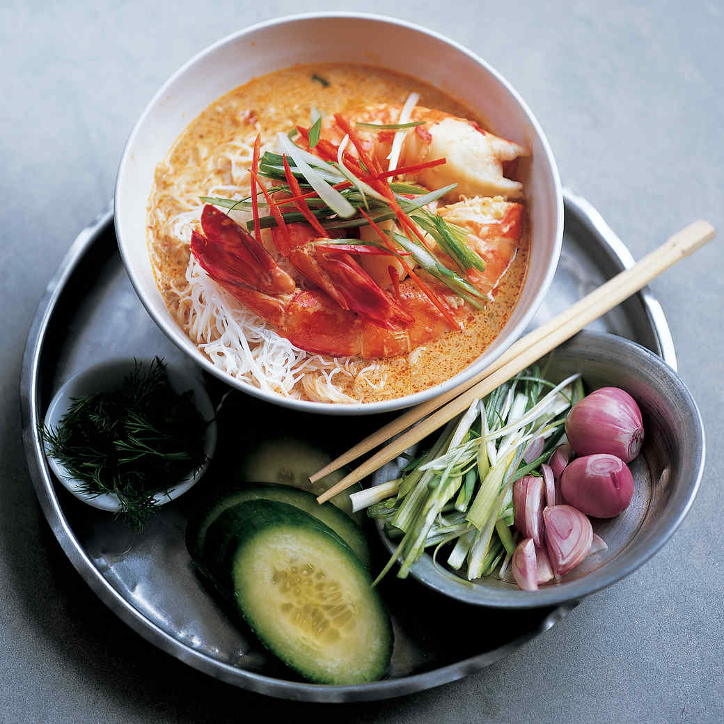 Malaysian Prawn and Coconut Laksa with Rice Vermicelli