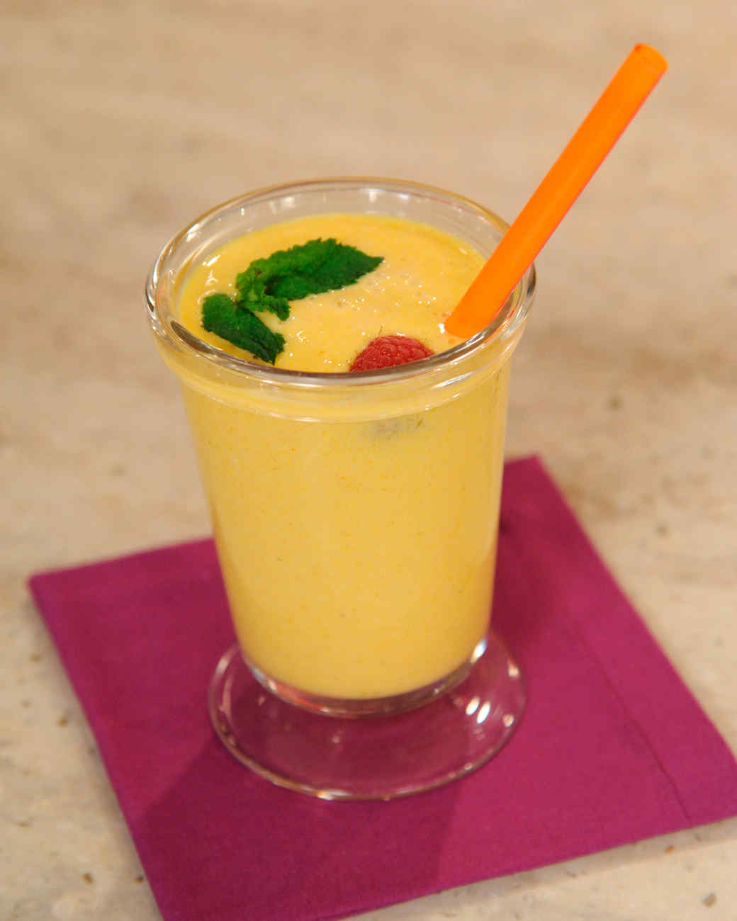 Luscious Mango Lassi with Berries Recipe & Video | Martha Stewart