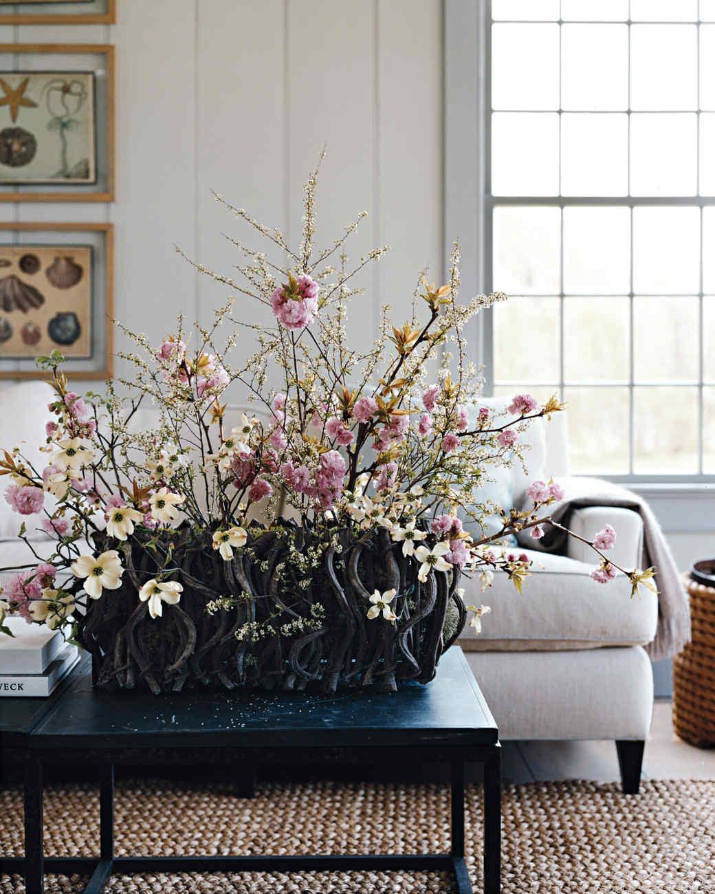 Cherry Blossom And Dogwood Arrangement