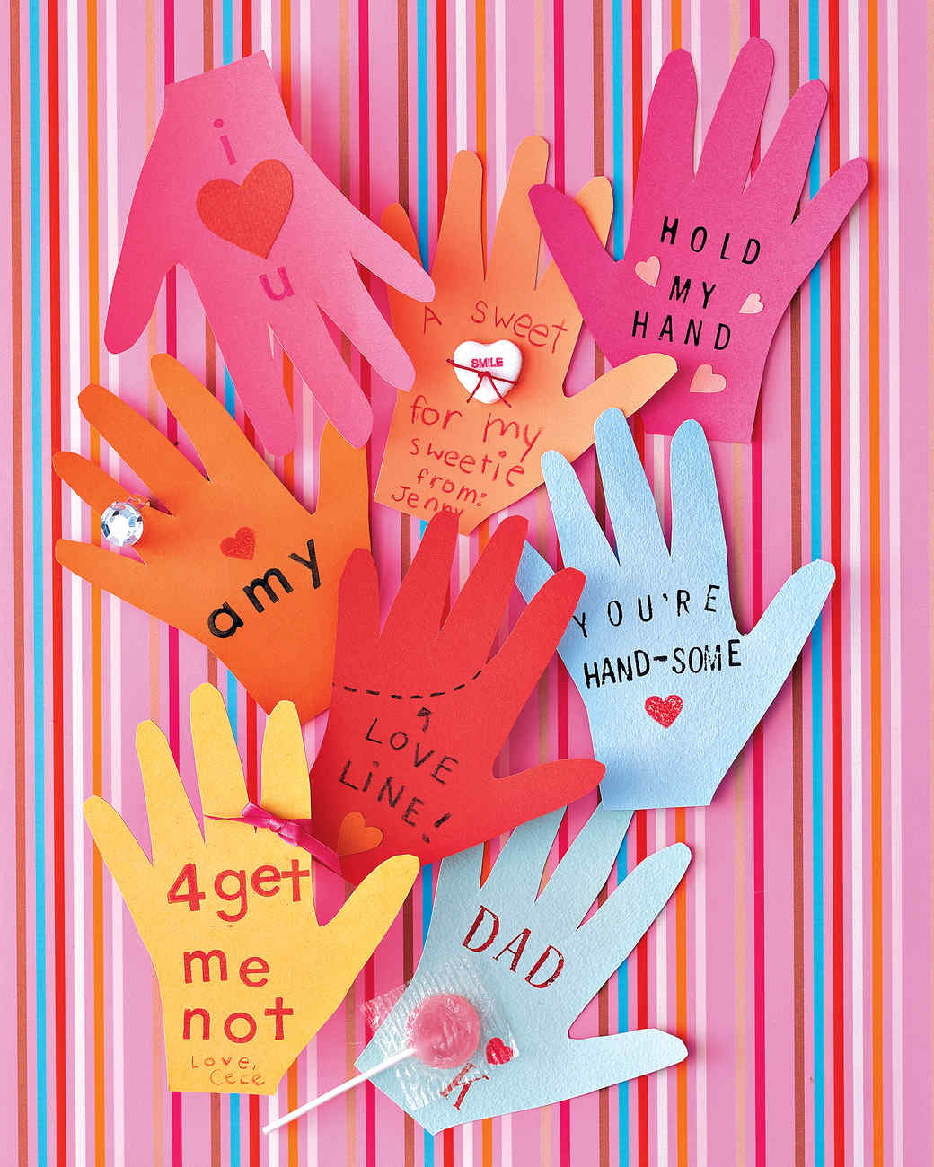 HandShaped Valentines – Friendly Valentine Cards