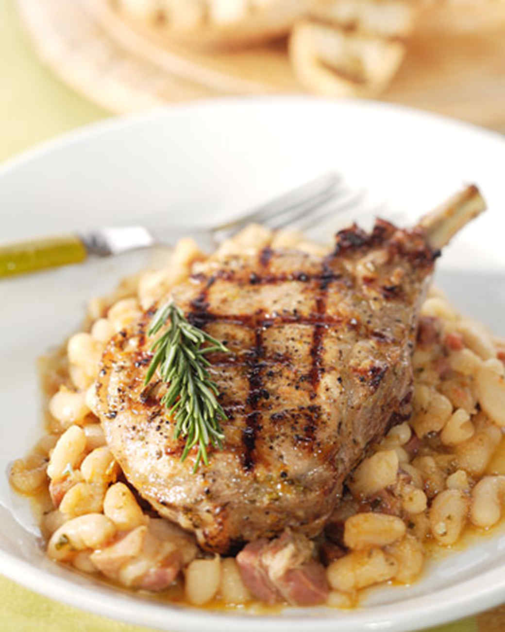 Pork chops and white beans recipe