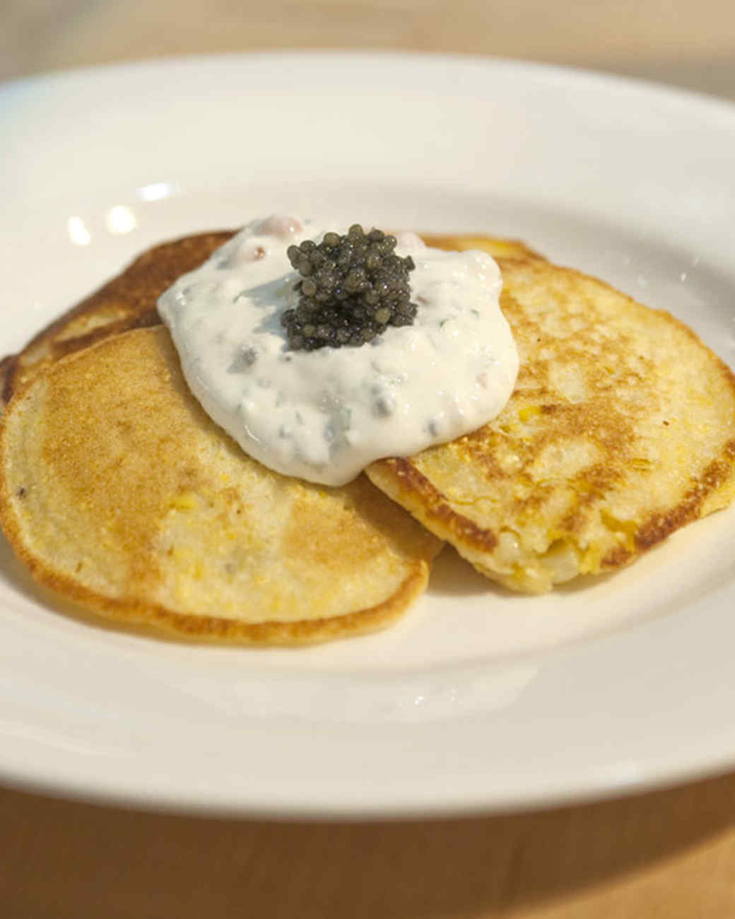 Corn Cakes with Christmas Caviar