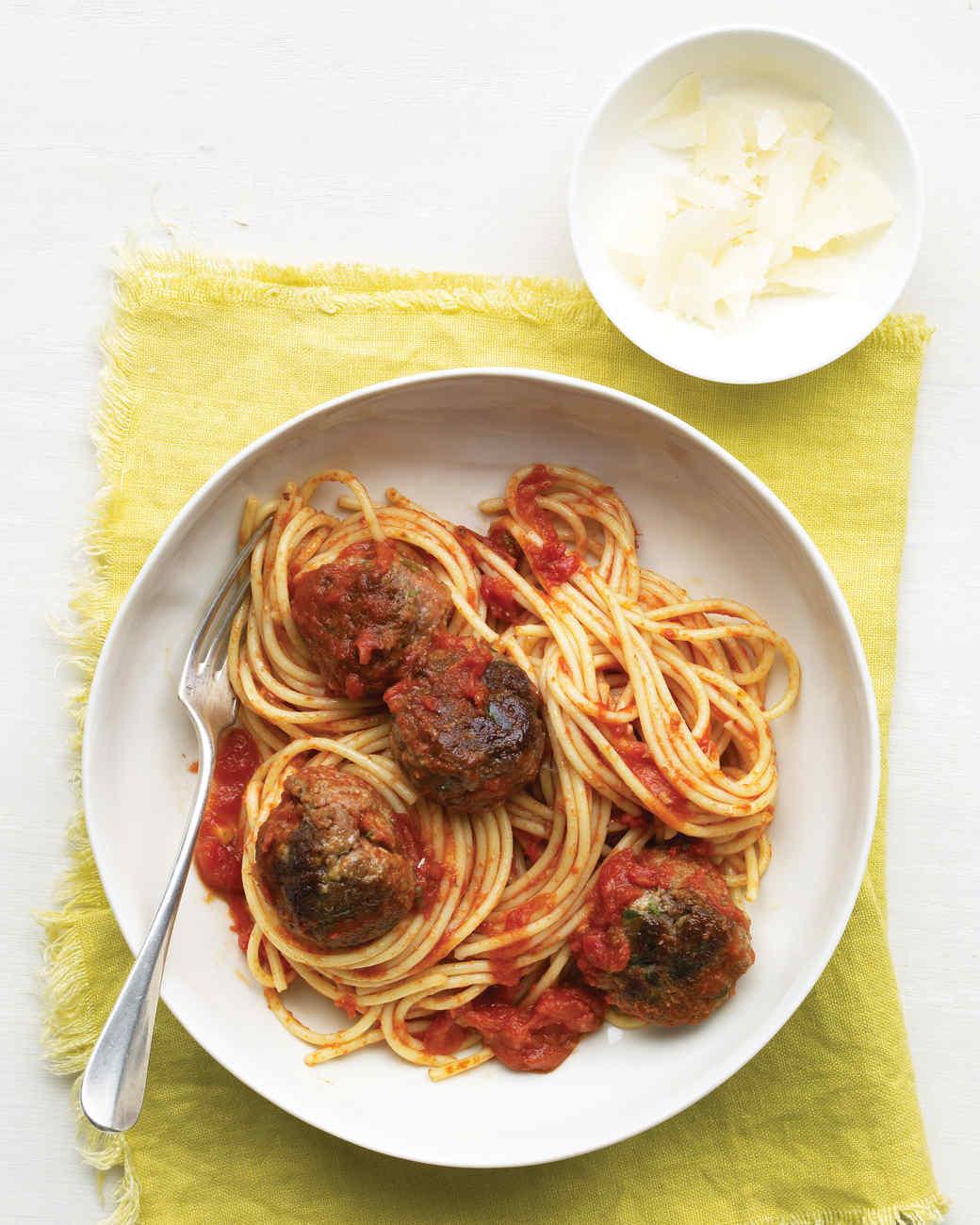 Easy ground beef meatball recipe spaghetti