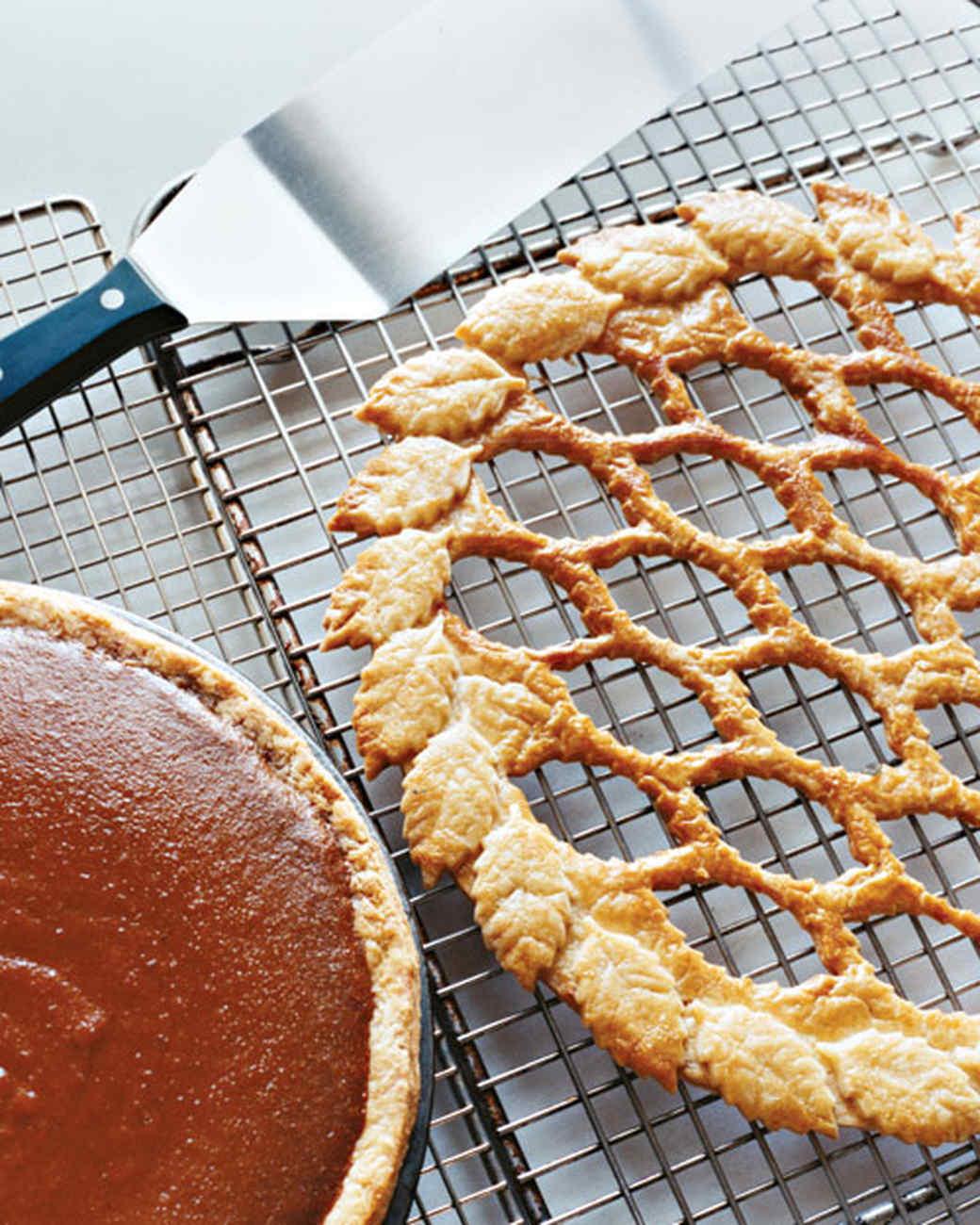 Maple Pumpkin Pie with Leaf Lattice