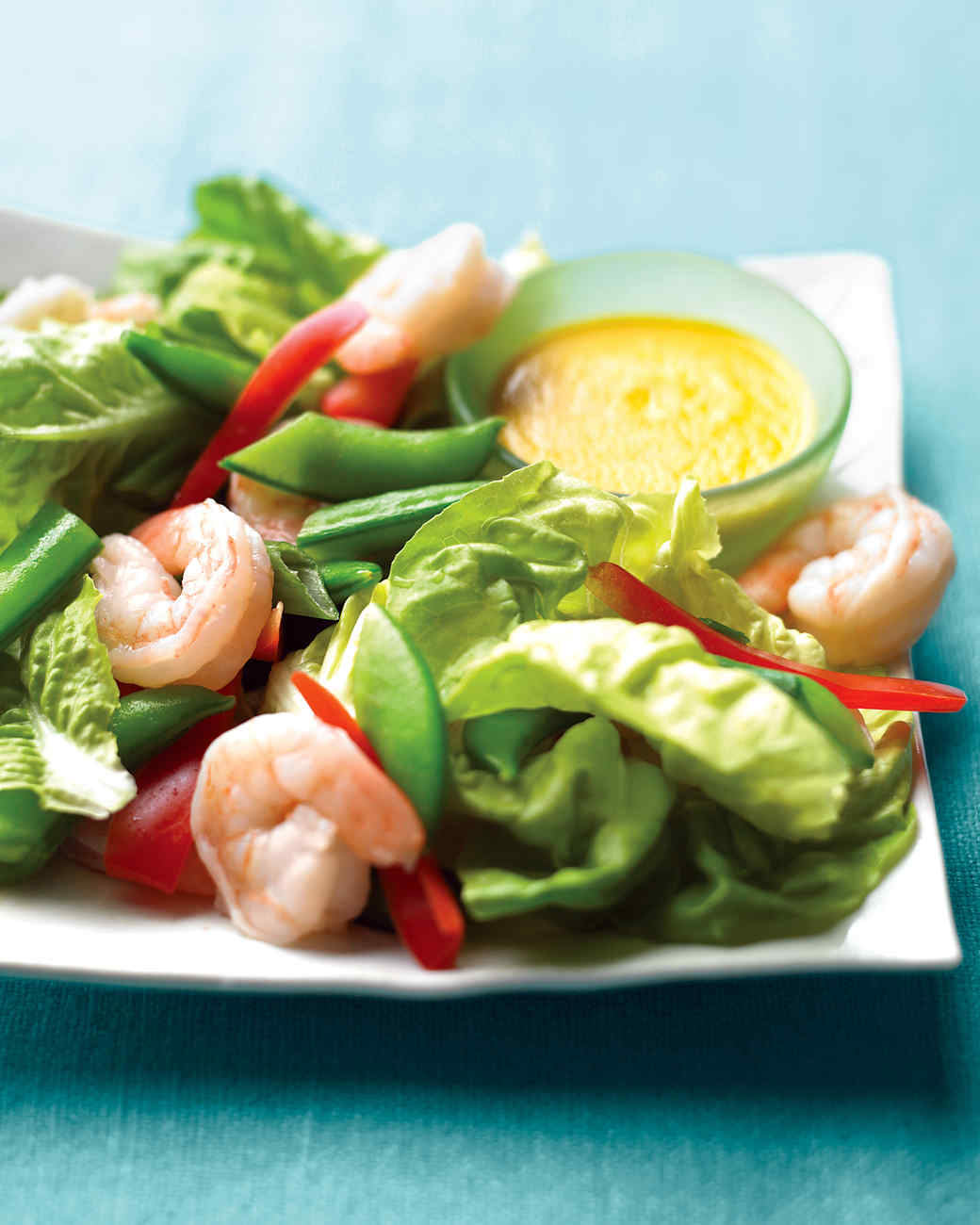 Marvelous Shrimp And Snap Pea Salad With Ginger Dressing