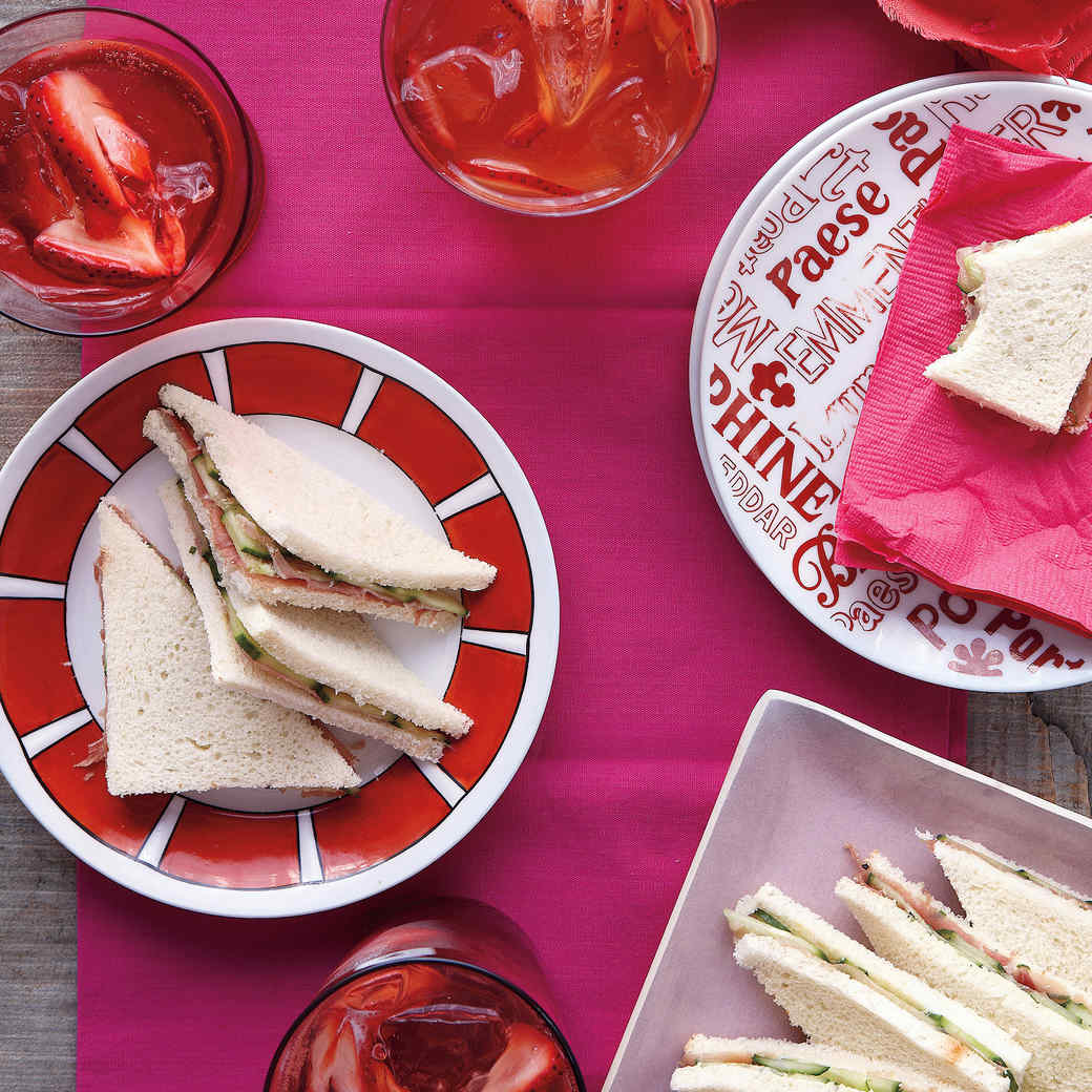 Cucumber and Prosciutto Tea Sandwiches