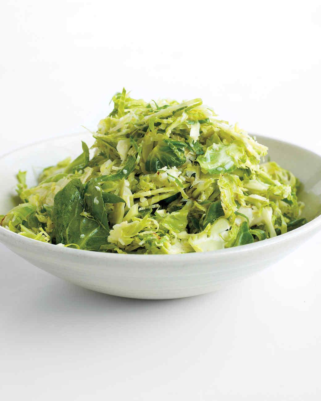 Warm brussels sprout salad recipe martha stewart for Shredded brussel sprout salad recipe