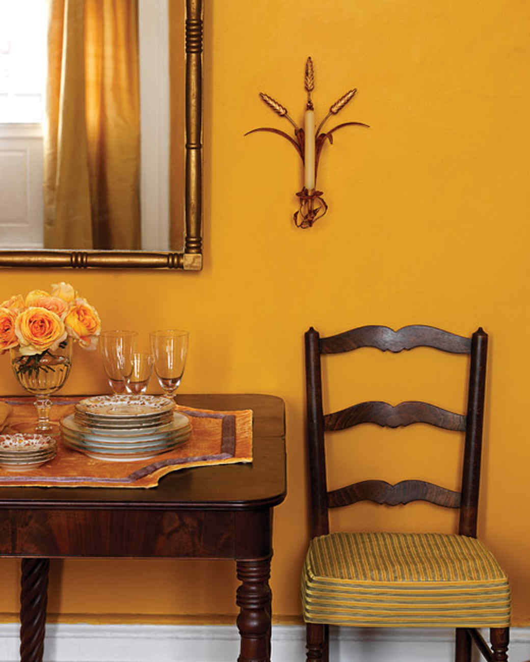 Rooms Painted Orange decorating with fall colors | martha stewart