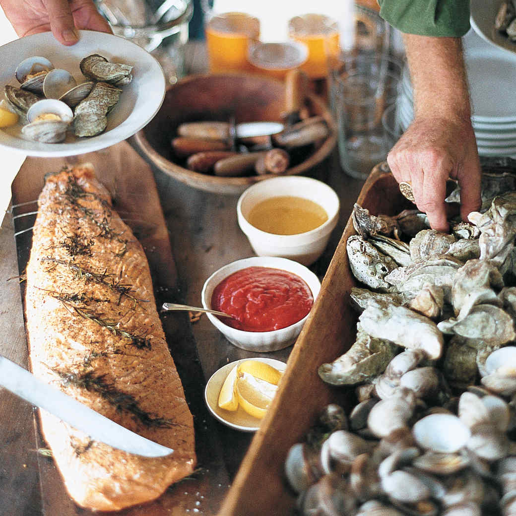 Low Country Steamed Carolina Cup Oysters with Melted Butter