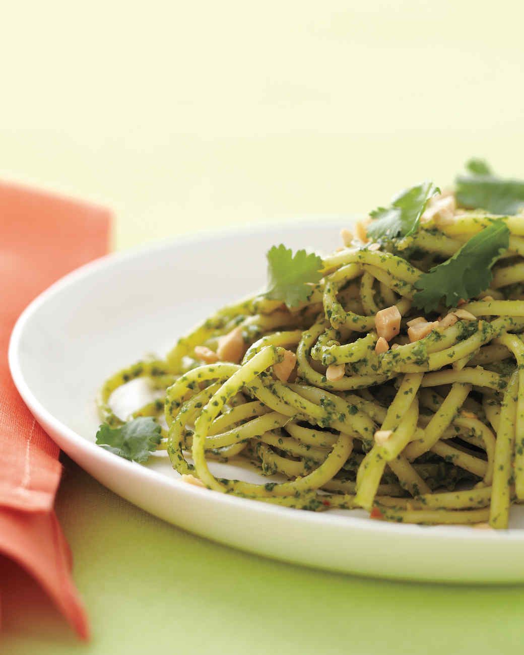 Pasta With Cilantro-Peanut Pesto Recipe