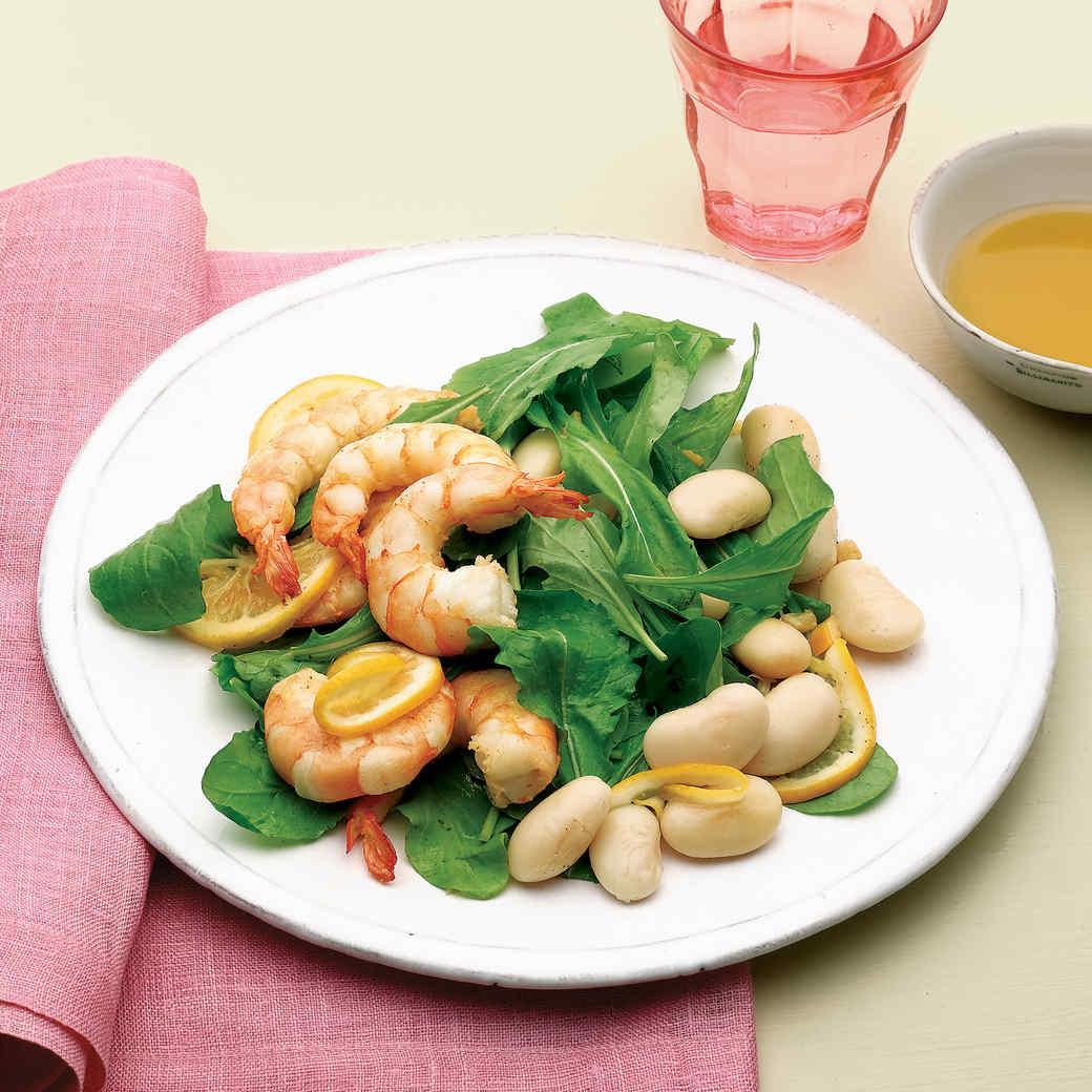 Spicy Shrimp, Bean, and Arugula Salad