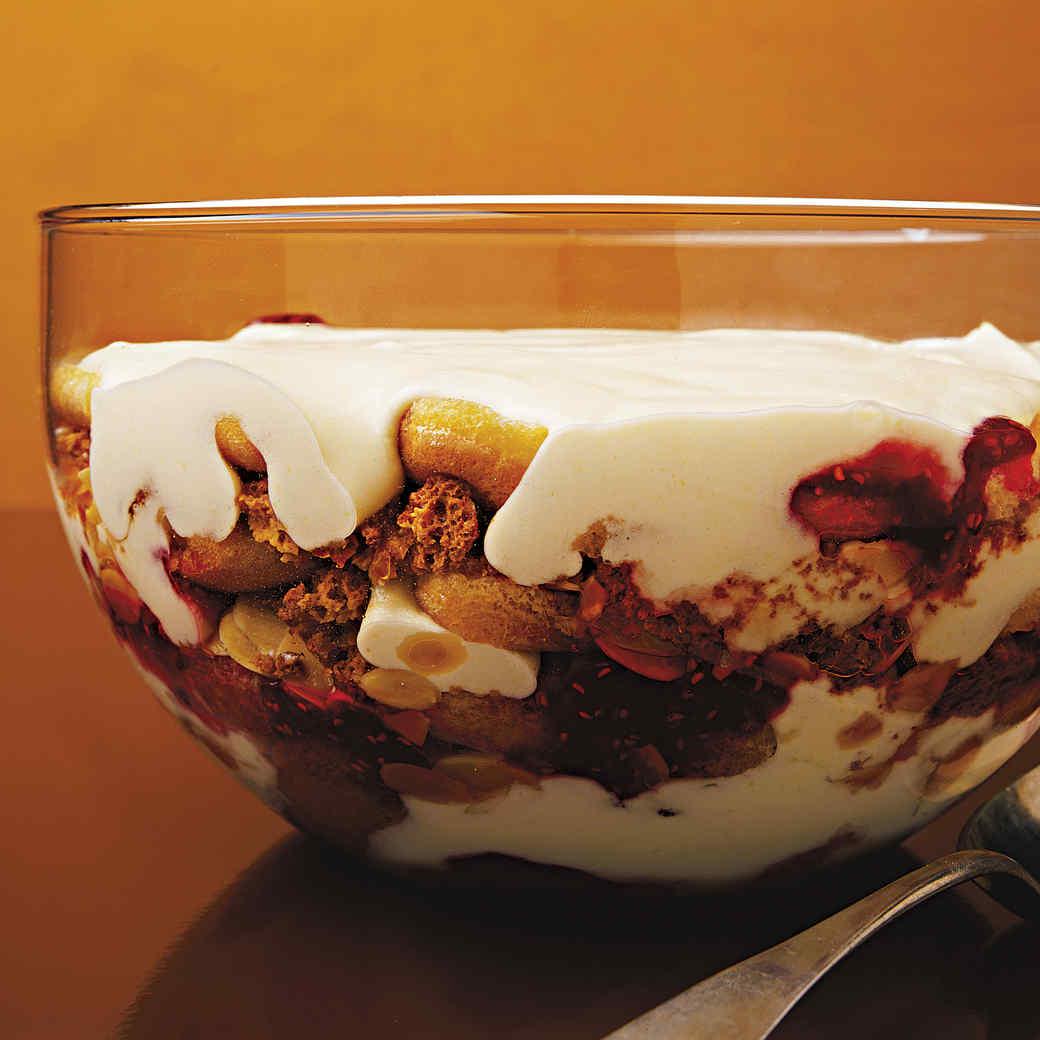 Sherry Trifle with Brandy Custard