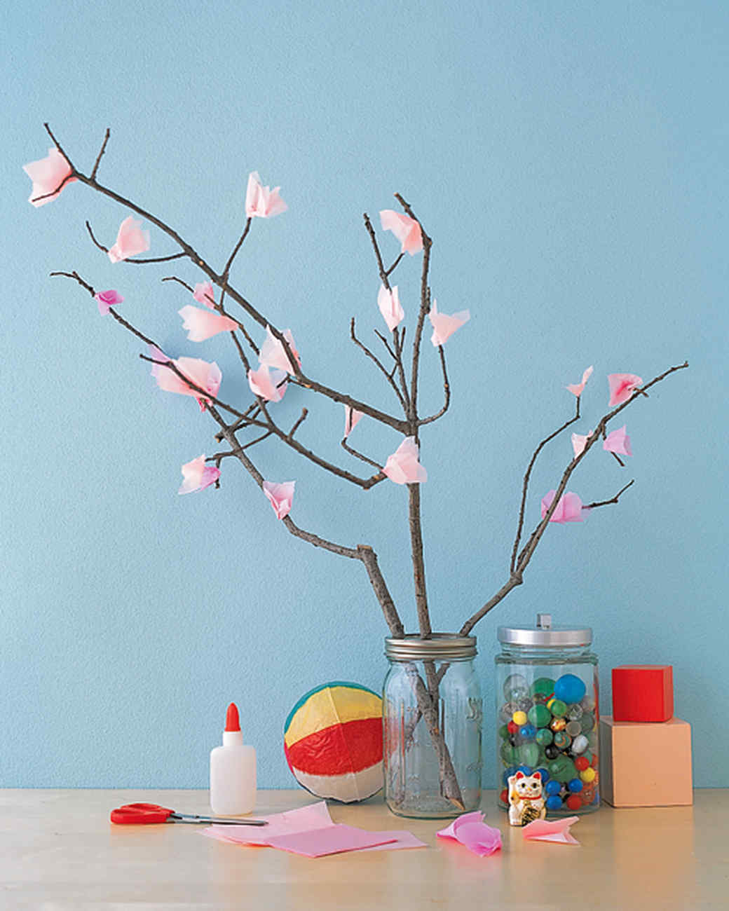 Tree branches for crafts - Tissue Cherry Blossom Tree