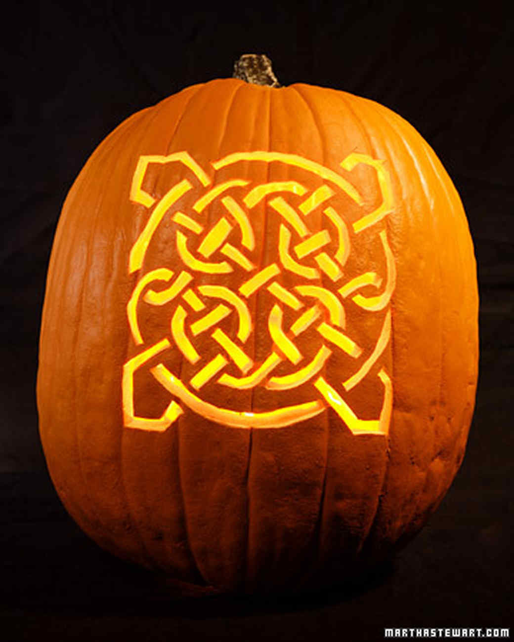 Celtic knot pumpkins video martha stewart