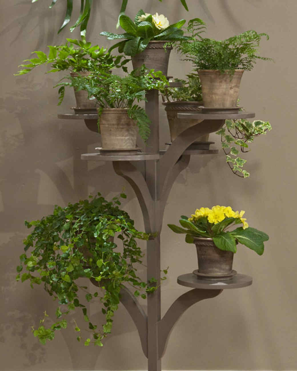 Make a plant stand video martha stewart - Corner shelf for plants ...