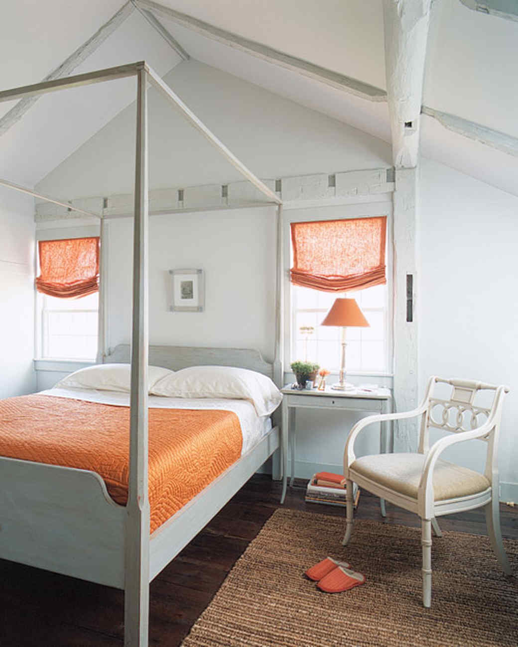 Orange Bedroom Furniture Orange Rooms Martha Stewart