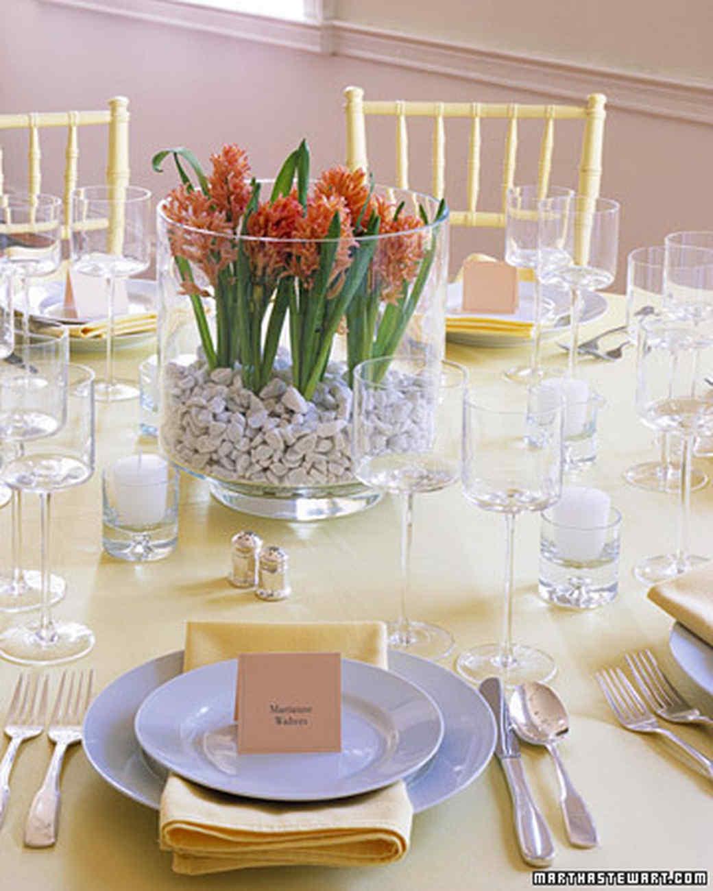 Martha Stewart Wedding Flowers Centerpieces : Hyacinth bulb centerpiece martha stewart