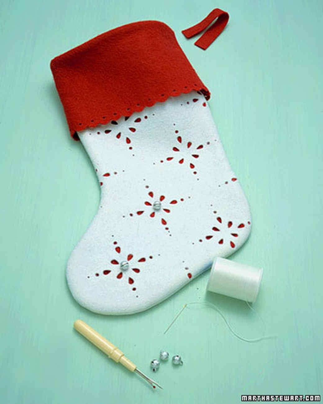 Jingle bell stockings martha stewart